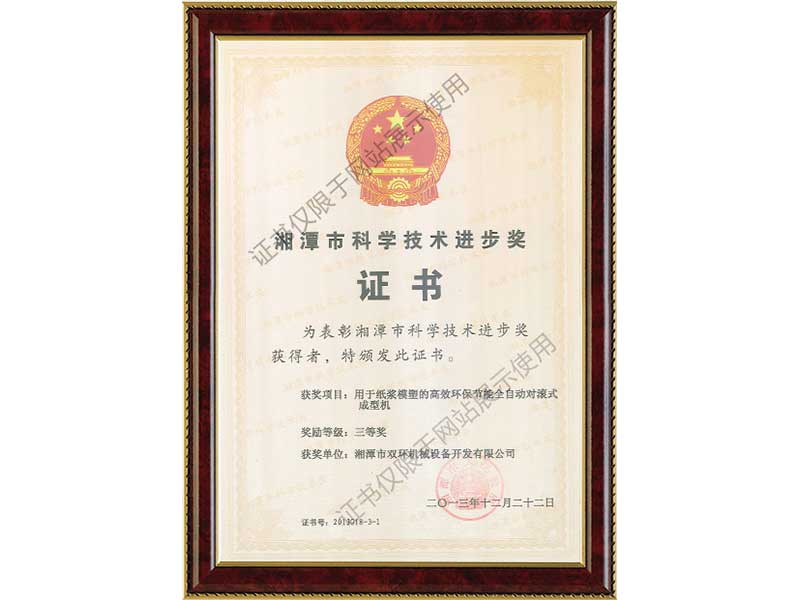 Scientific-and-technological-progress-certificate